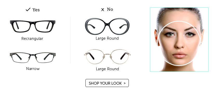 Eyeglass Frames For A Wide Face : Frames to suit Face