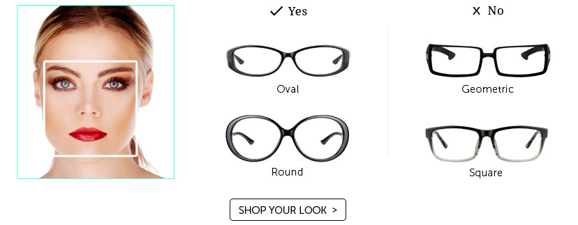 Women s Eyeglass Frames For Square Faces : Gallery For > Glasses For Women With Square Faces