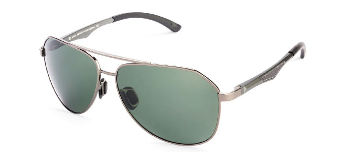 Gunmetal Green Aviator