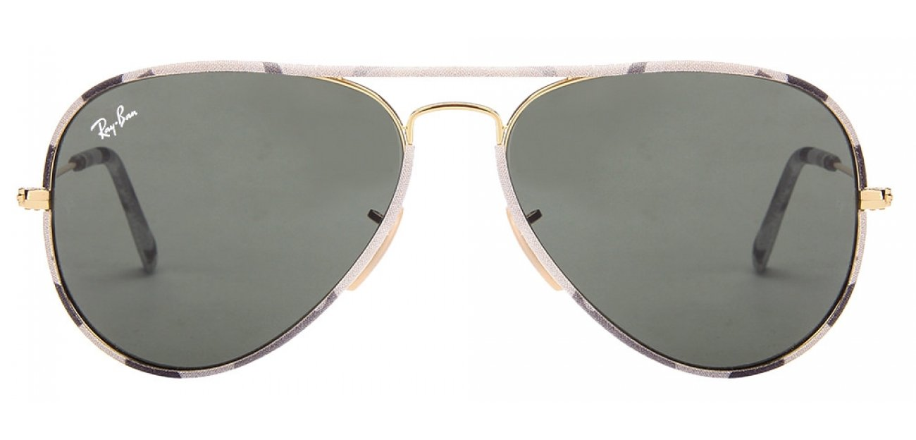 Ray-Ban RB3025 171 Size:58 Golden Green Aviator Sunglasses