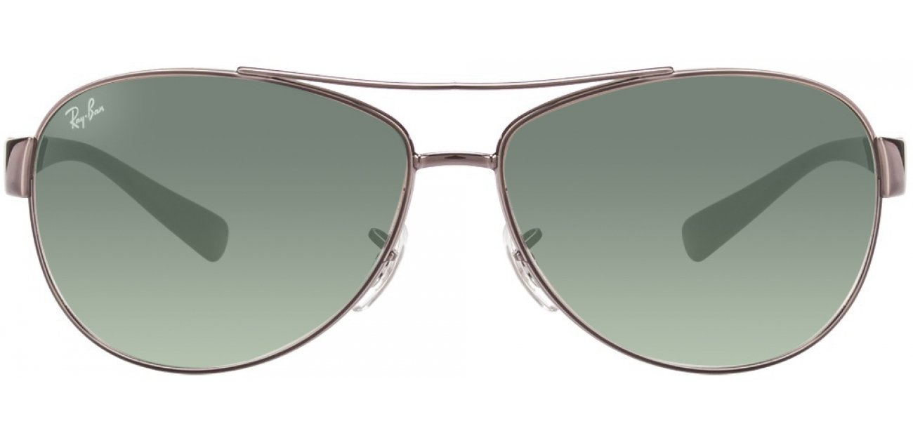 Ray-Ban RB3386 105/8e Size:63 Gunmetal Green Gradient Aviator Men's Sunglasses