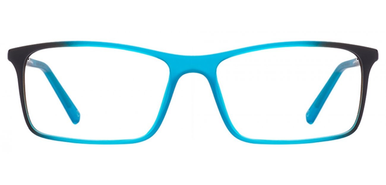 Blue Black Full Rim Rectangle Medium (Size-55) John Jacobs SLIM JJ 4346-C11 Eyeglasses