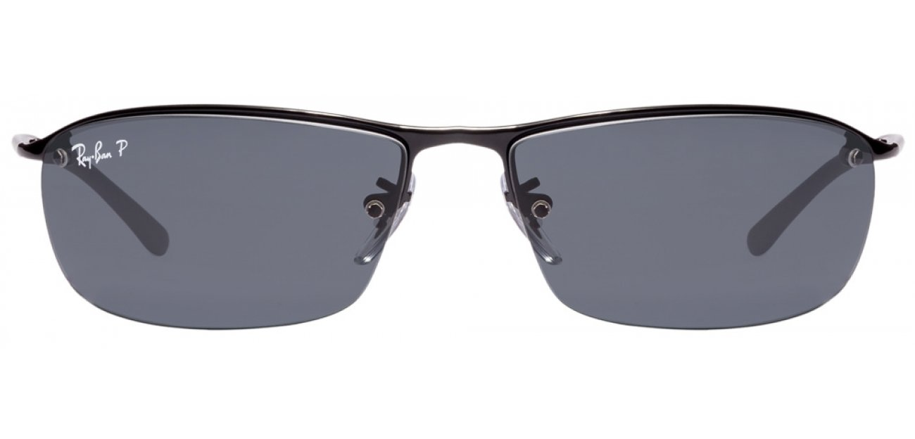 ray ban rb3183 7vnt  Ray-Ban RB3183 Size:63 Black Grey 002/81 Polarized Sunglasses