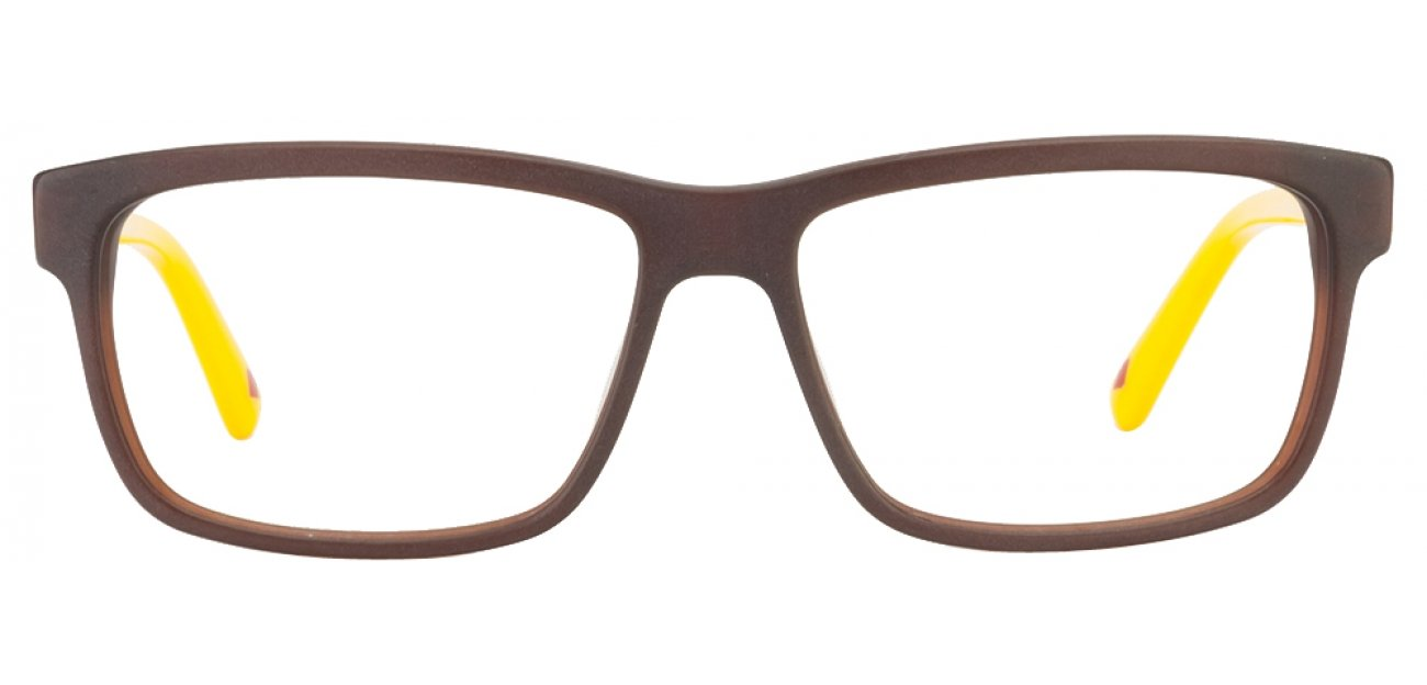 Lee Cooper LC8076Foa Brn Size:53 Brown Yellow Eyeglasses