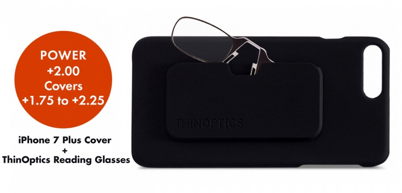 ThinOptics Reading Glasses With Iphone 7 Plus (Only For 2 Power )