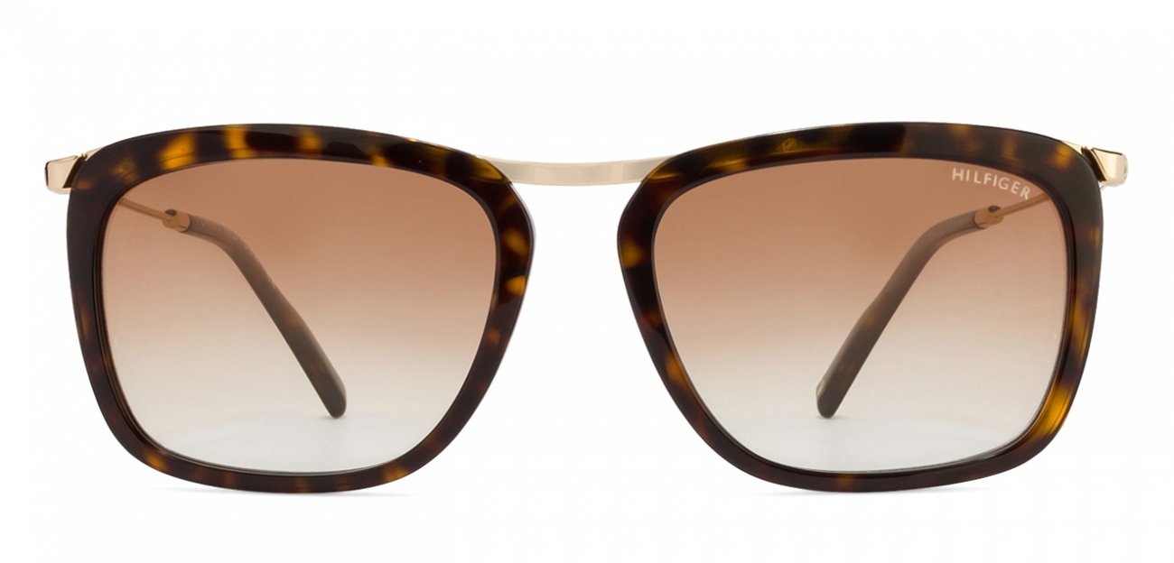 Golden Tortoise Brown Gradient Rectangle Small (Size-55) Tommy Hilfiger TH2511 - C1 Sunglasses