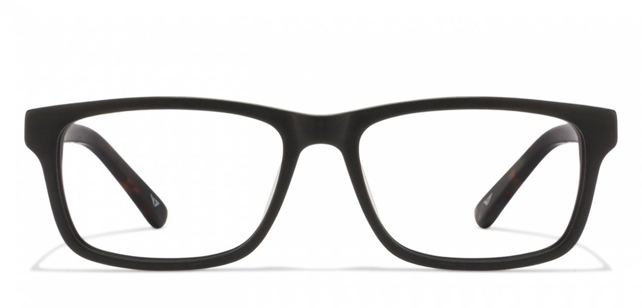 Matte Black Rectangle Eyeglasses Vincent Chase Vagabond VC 6486 - C4