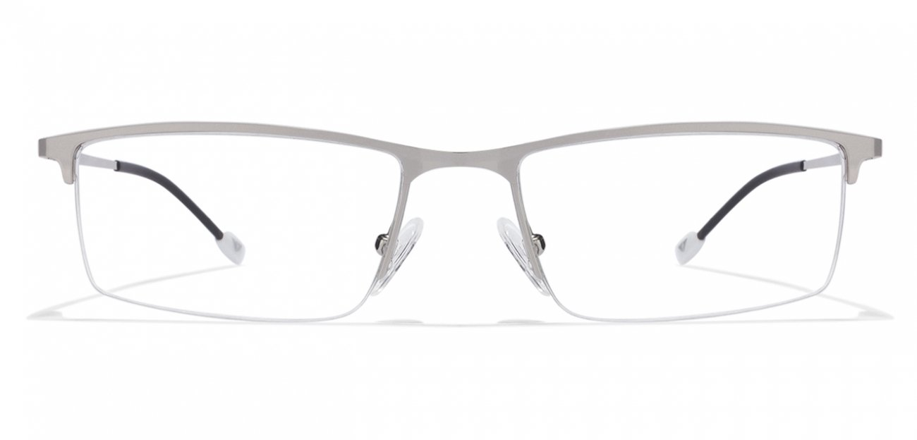 BUY 2 IN 2500 : Vincent Chase Crayons VC E10212 Silver Black C4 Eyeglasses