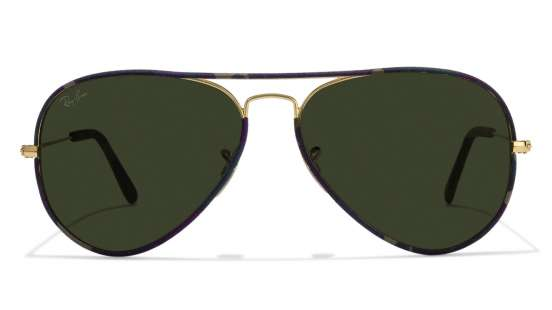 www ray ban com aviator  Ray-Ban RB3025 L0205 Size:58 Golden Green Aviator Men\u0027s Sunglasses ...