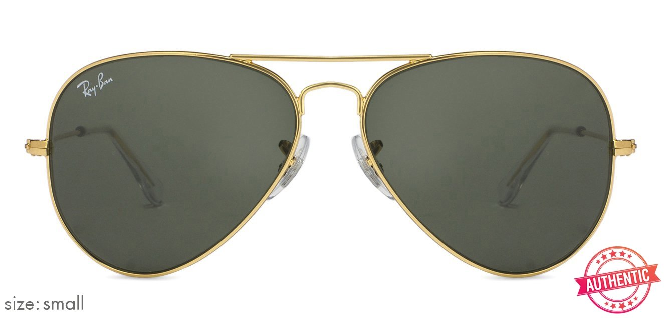 e458c919a18 Ray-Ban RB3025-55 Small (Size-55) Golden Green Unisex 15 Sunglasses