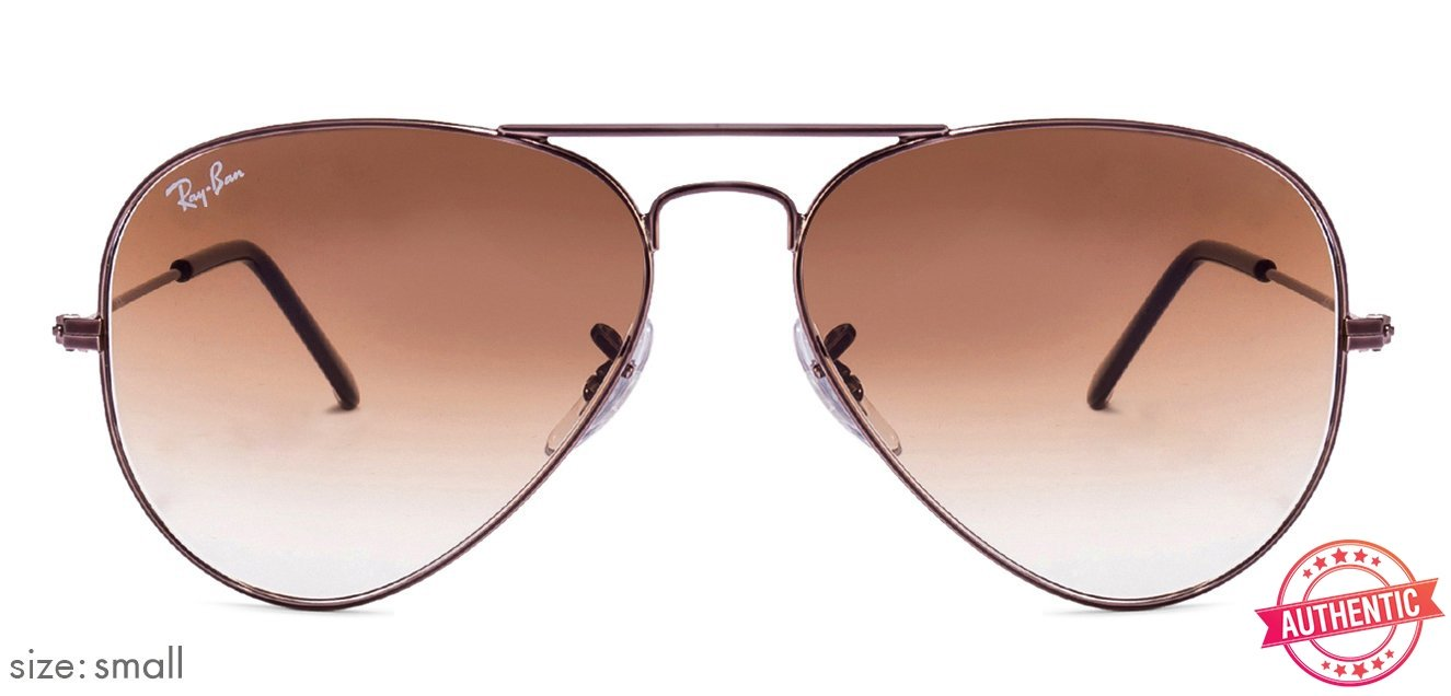 7c18f72237 Ray-Ban RB3025-55 Small (Size-55) Brown Gradient Unisex 55004-51 Sunglasses