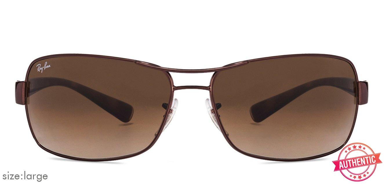 7332e2c1e4 Ray-Ban RB3379 Large (Size-64) Silver Brown Gradient 014 51 Men Sunglasses