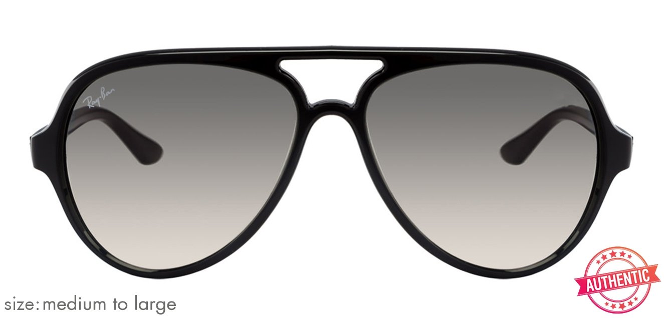 7f637bee190 Ray-Ban RB4125 601 32 Size 59 Black Grey Men Propionate Sunglasses ...