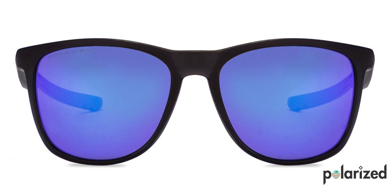 58e3ebba6ff61 Oakley OO9340 Medium (Size-52) Black Blue Mirror 3 Unisex Polarized  Sunglasses