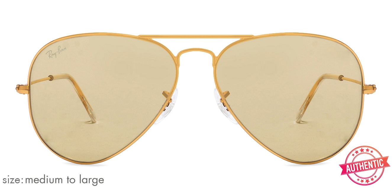 def7f9032 Ray-Ban 0RB3025 Medium-Large (Size-58) Golden Brown Unisex ...