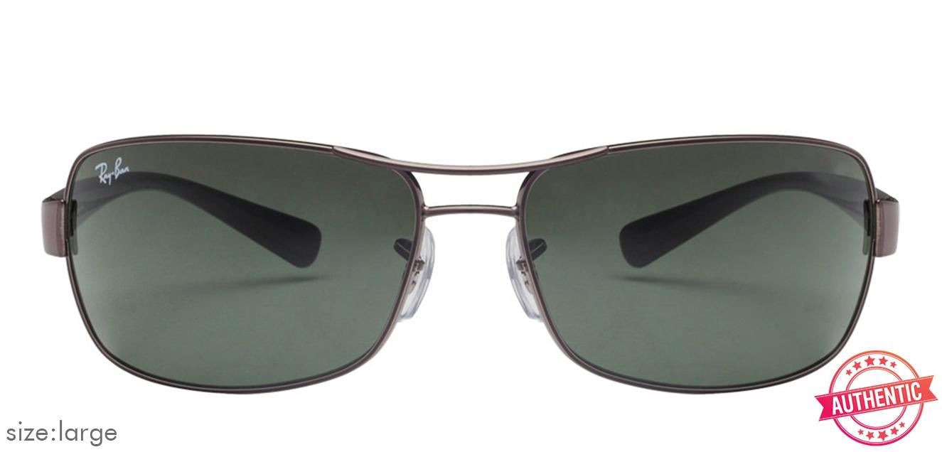0258cba91d Ray-Ban RB3379 Large (Size-64) Gunmetal Green Unisex 04 Sunglasses