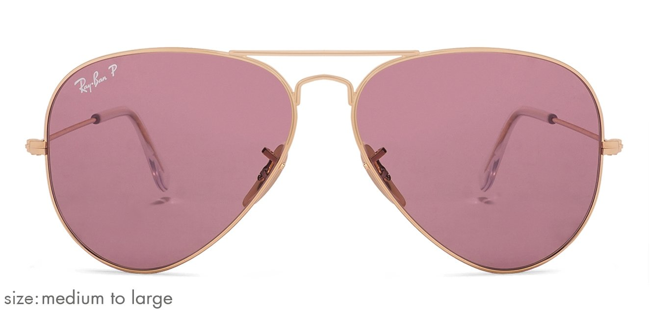 2a07c4f46 Ray-Ban RB3025 Medium-Large (Size-58) Golden Pink Unisex Polarized 01-15  Sunglasses