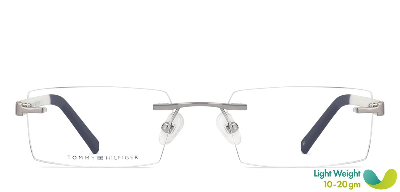 18d5fdfe Shop online for Tommy Hilfiger TH5594 Medium (Size-51) Gunmetal White Navy  Blue C4 Unisex Eyeglasses