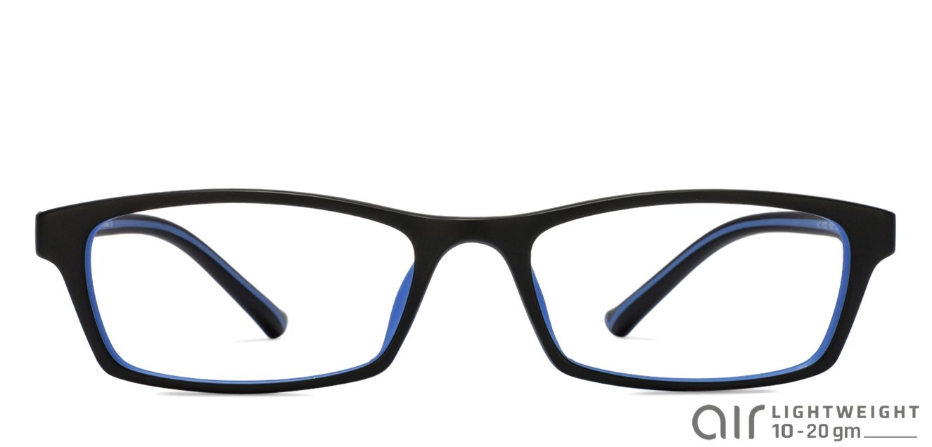 1a369913684 Black Blue Full Rim Rectangle Medium (Size-52) Vincent Chase AIR ...