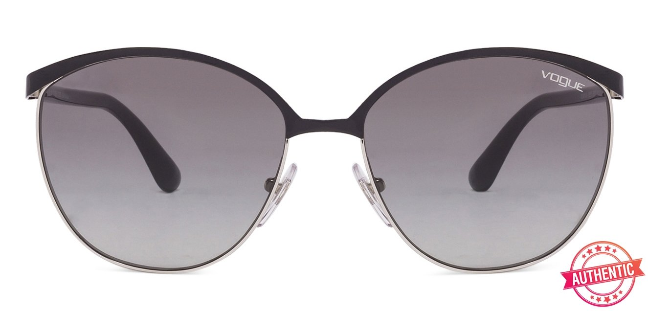 e6da9b5a23 Vogue DU VO4010 Large (Size-57) Black Silver Black Grey Gradient 352 11 Women  Sunglasses