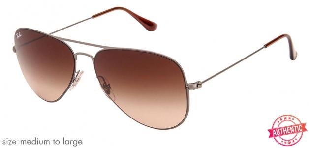 b60eaea0cb Ray-Ban RB3513 Medium-Large (Size-58) Matte Metal Brown Gradient Unisex 147- 13 Sunglasses