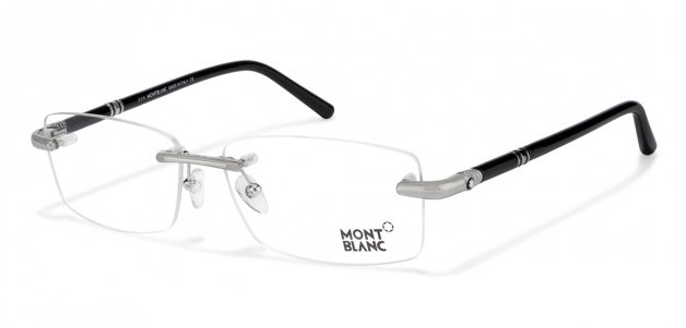 b01cd433f6d Mont Blanc MB0476 Large (Size 57) Silver Black 16 Unisex Eyeglasses at  LensKart.com