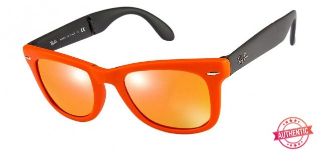 85760815ff1fc Ray-Ban RB4105 Small (Size-50) Orange Grey Red Mirror Unisex 601969-50  Sunglasses