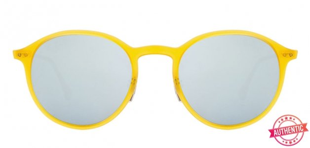 fcf01287ed596 product-img. Ray-Ban RB4224 Small (Size-49) Matte Yellow Silver Mirror  Unisex 618630 Sunglasses