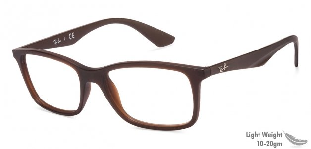 0baa79ffda1 Shop online for Ray-Ban Rx7047 Medium (Size-54) Brown 5451 Unisex Eyeglasses